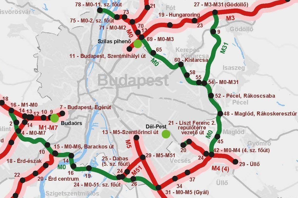 Térkép Budapest M0