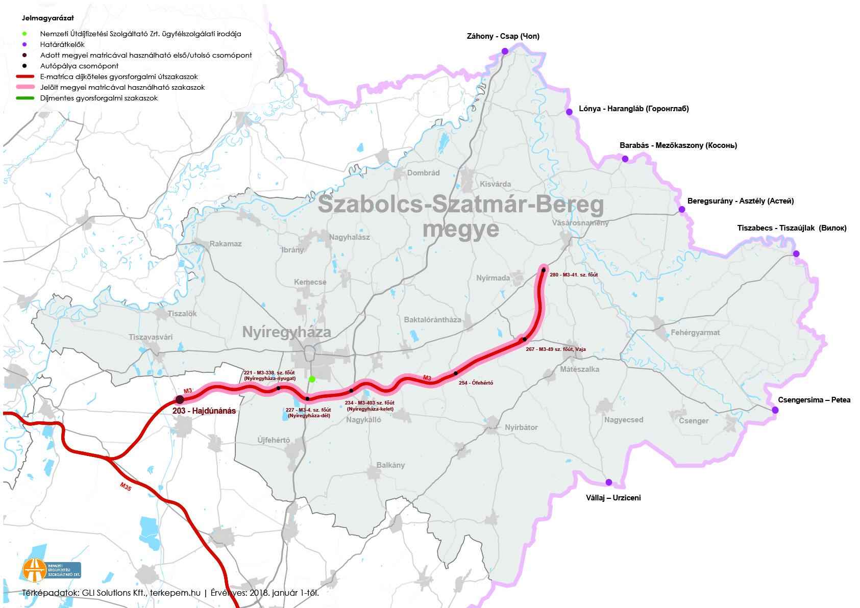 szabolcs szatmár bereg megye térkép Szabolcs Szatmár Bereg megye   megyei matrica