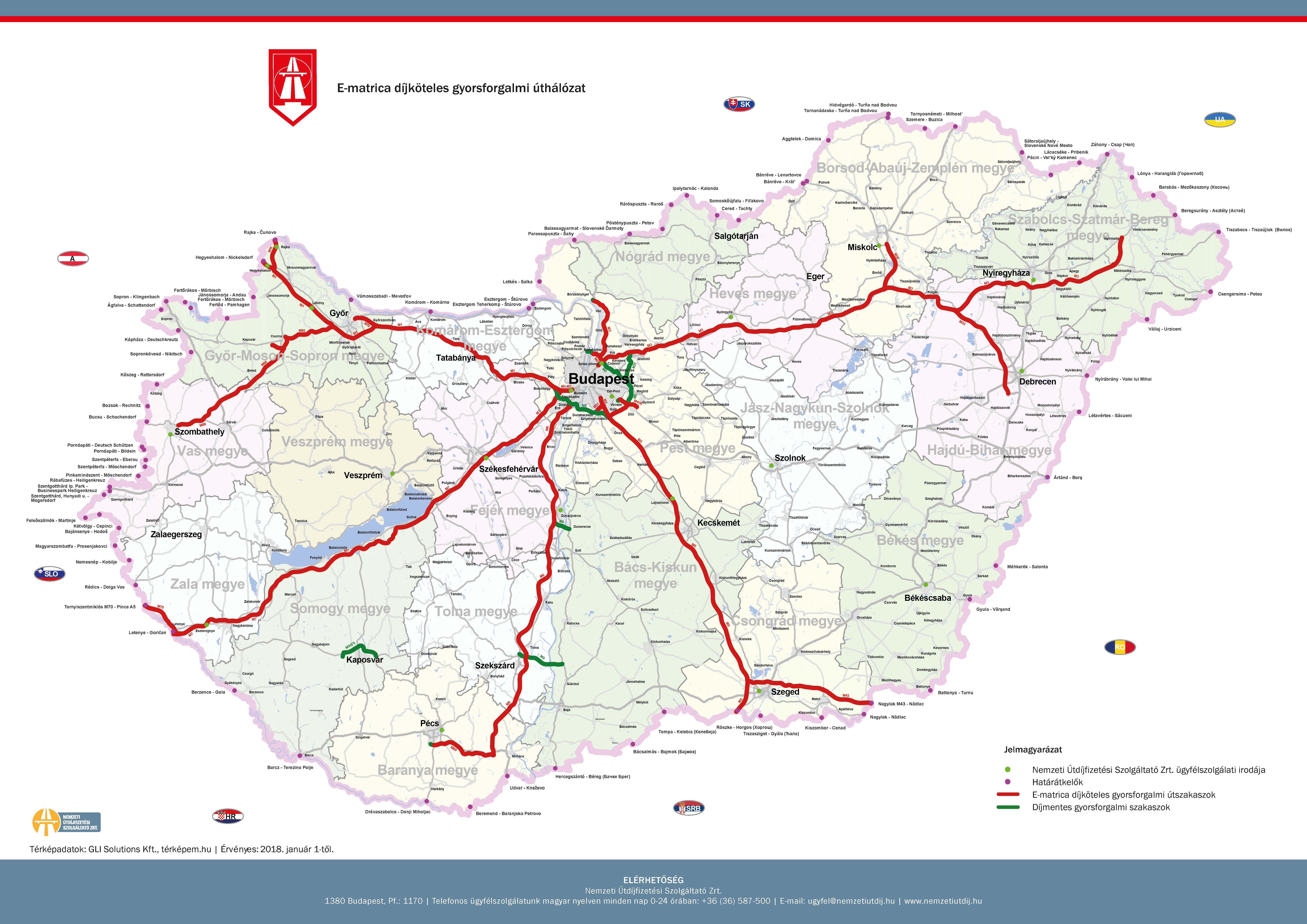 megyei matrica térkép Térképek